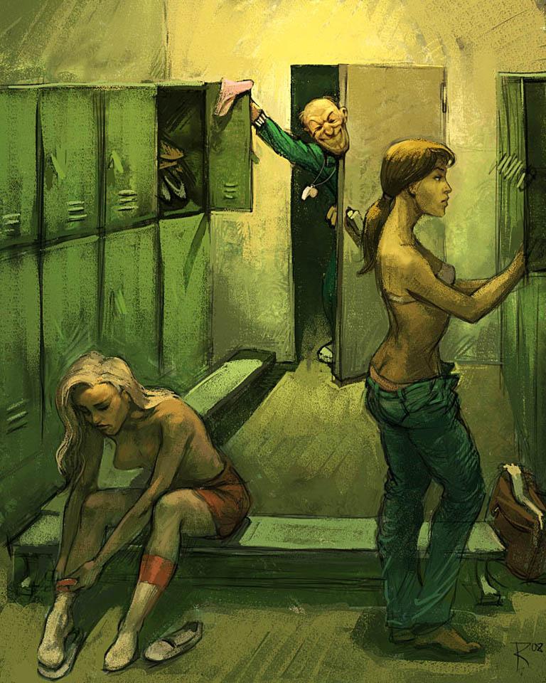 locker room by Waldemar-Kazak