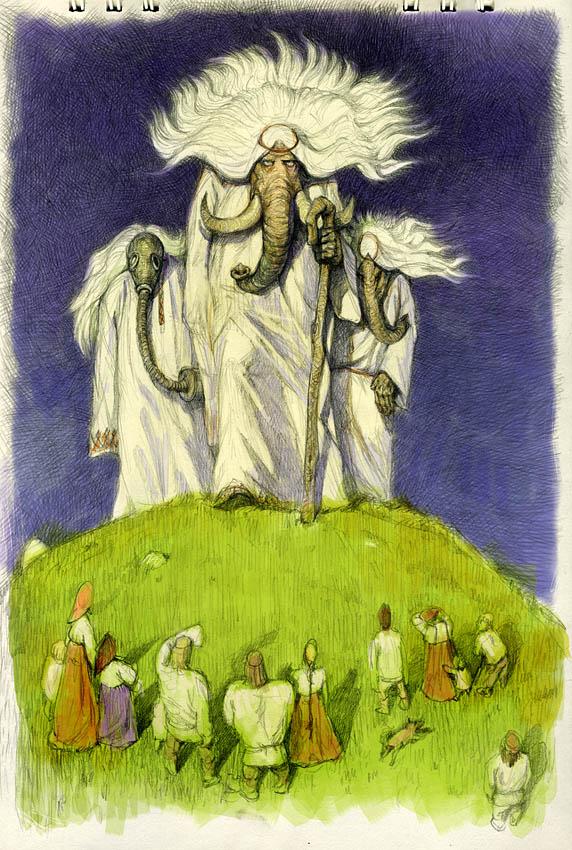 Russian elephants by Waldemar-Kazak
