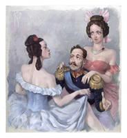 The tsar and girls by Waldemar-Kazak