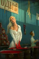 Sticky sweet fate by Waldemar-Kazak