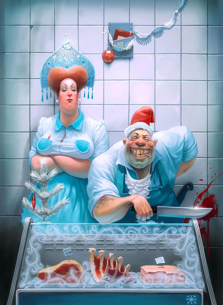 Funny russian butchers