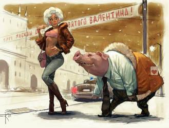 Valentin and Valentina by Waldemar-Kazak