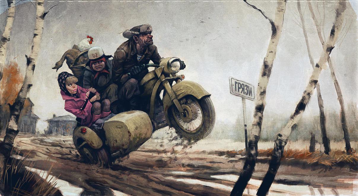 Highway to town by Waldemar-Kazak