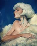 Frau in Fur