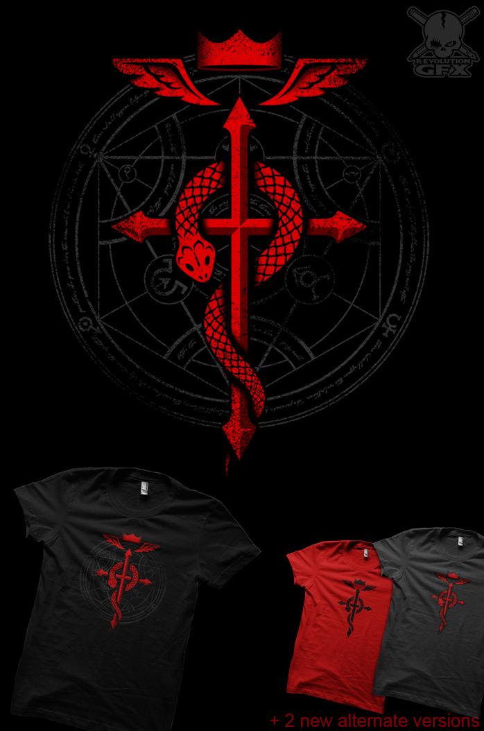 Fullmetal Alchemist Flamel T Shirt By R Evolution GFX