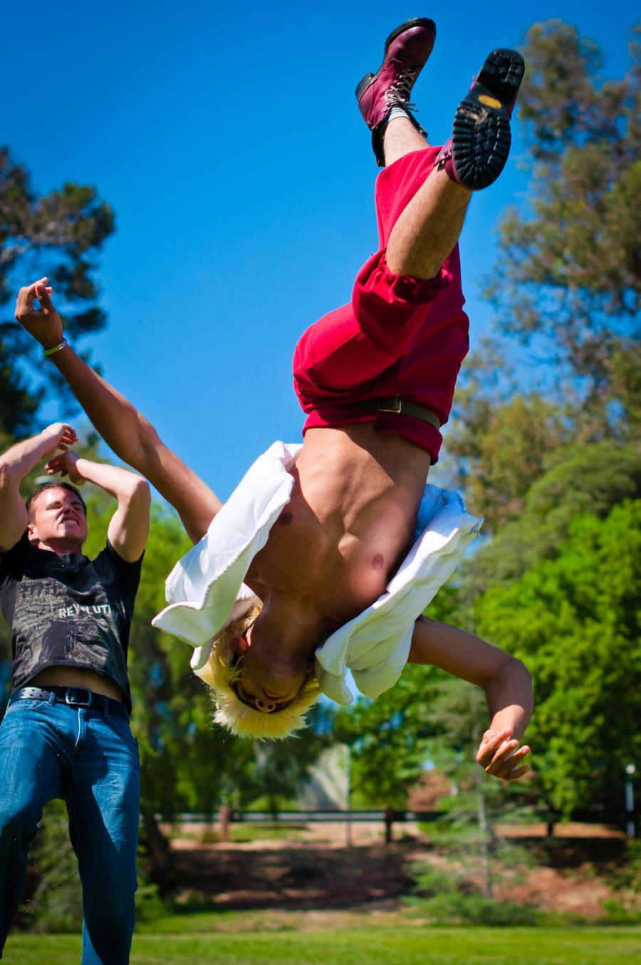 Flash kick by DynamiteBreakdown