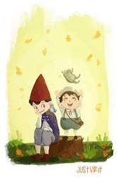 Over the garden wall by justvrit