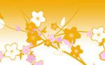 Japanese Flowers in Orange