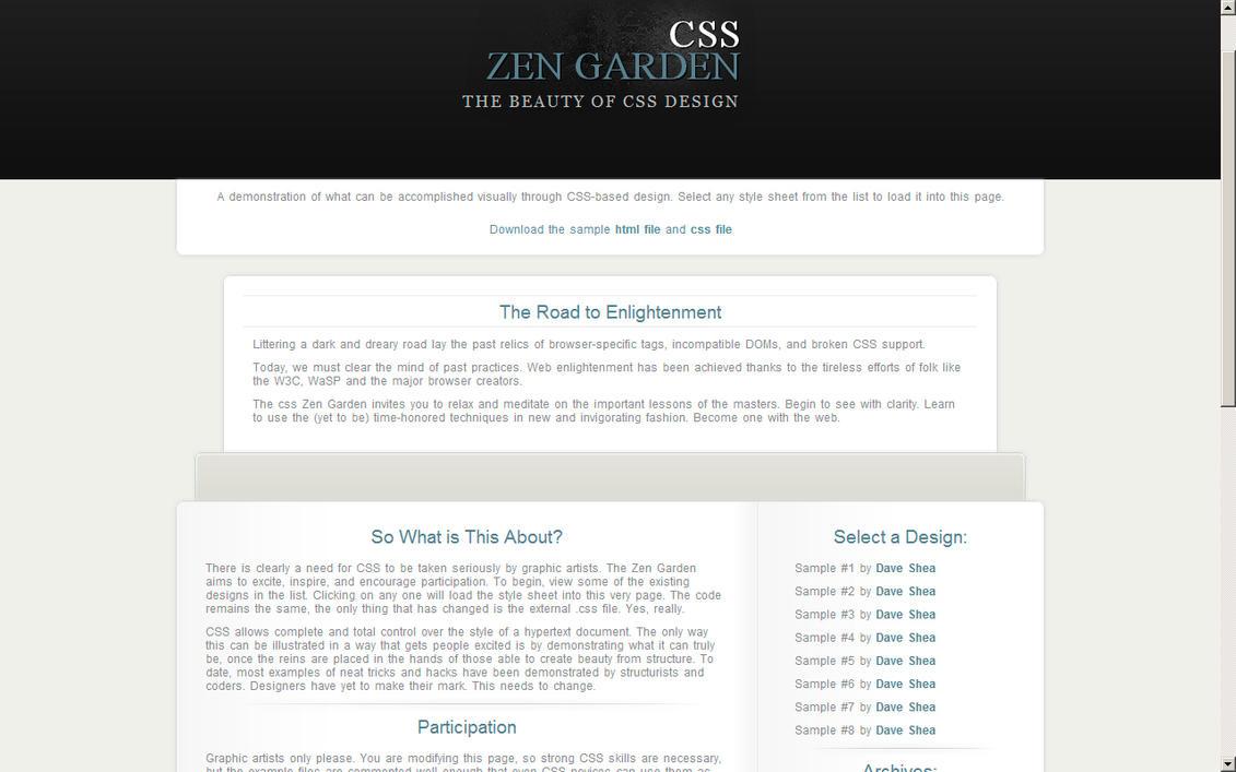 Zen Garden Layout by ~tedexx on deviantART