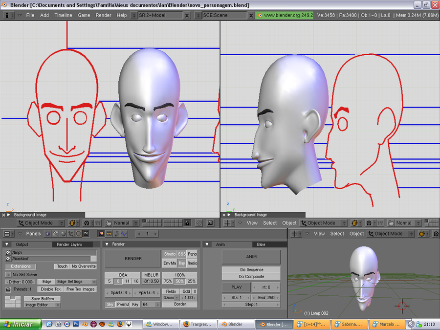 Blender Character Modeling Guide : Character modeling by isnts on deviantart