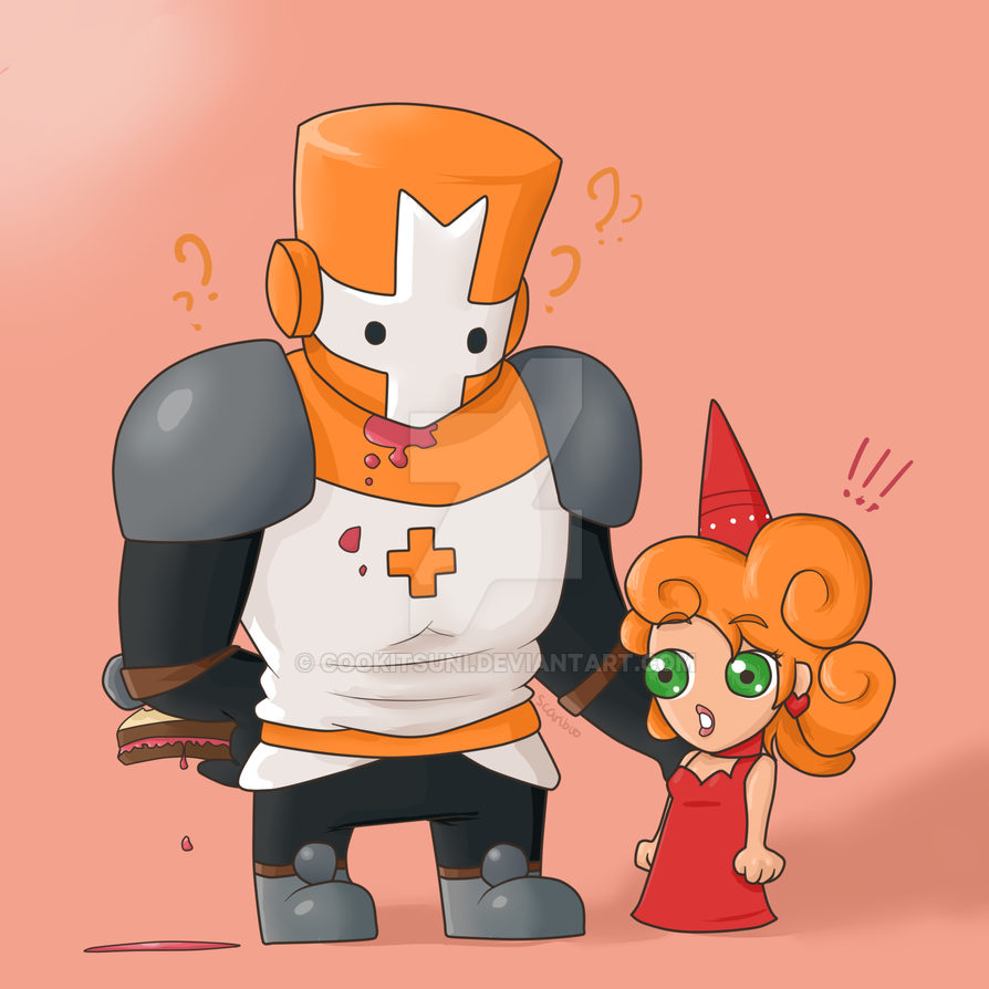 castle crashers orange knight by cookitsuni
