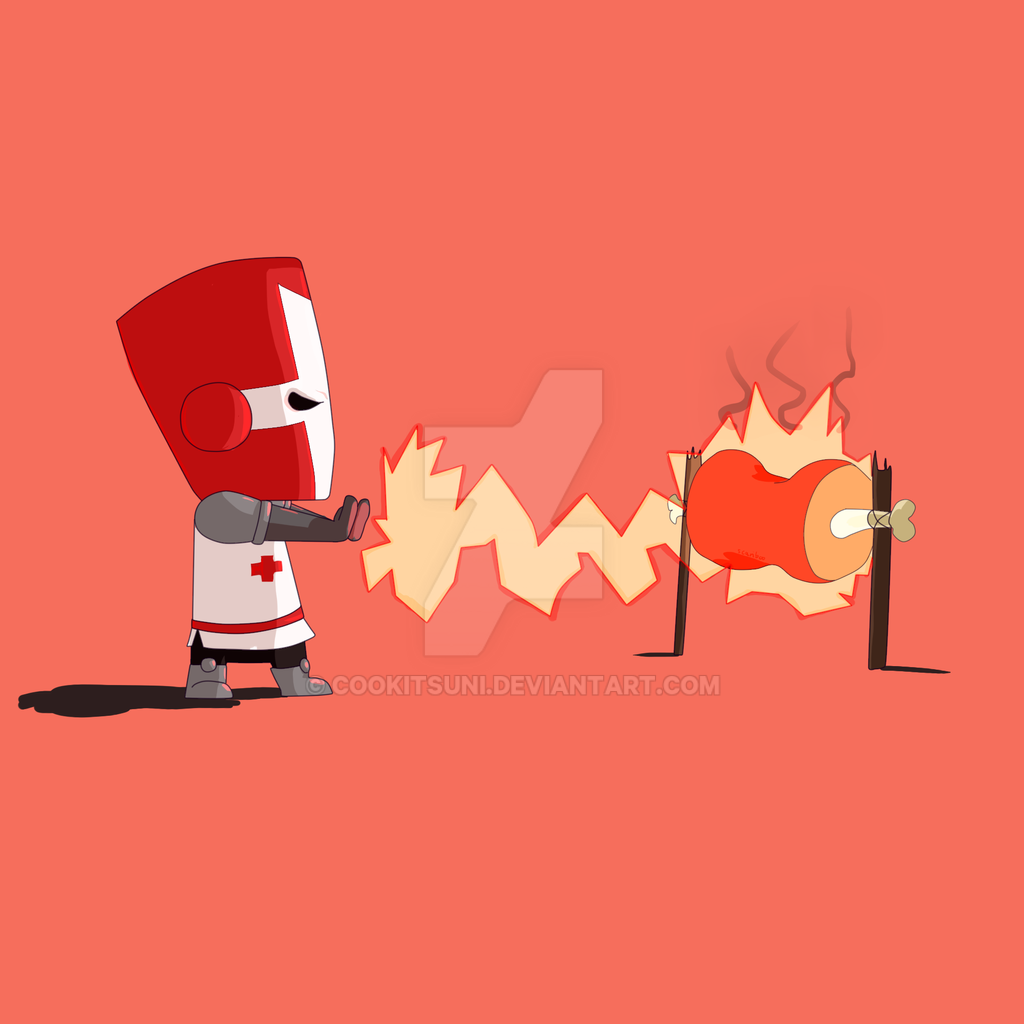 castle crashers red knight by cookitsuni