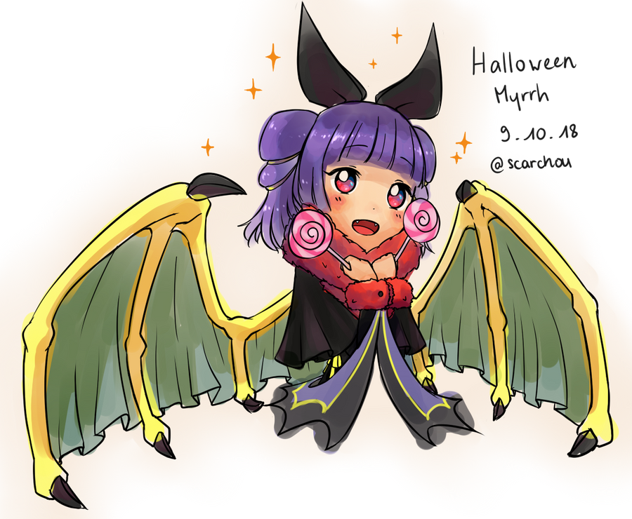 Halloween Myrrh Fire Emblem Heroes By Cookitsuni On Deviantart