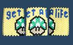 Mario mushroom kandi cuff
