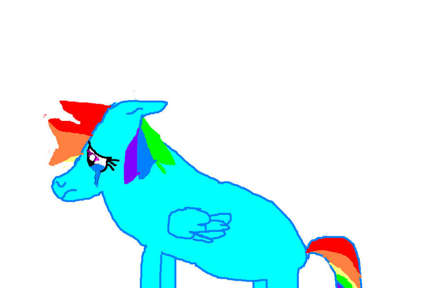 Rainbow Dash Crying Crying rainbow dash by