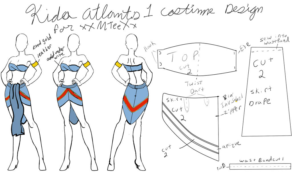 Kida costume final patern layout by Venray