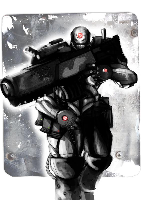 Soldier Power-Armor Concept by Sturmpanzergrenadier