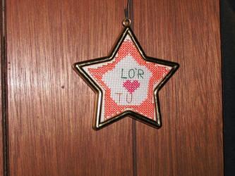 cross stitch star by Dragonstar78