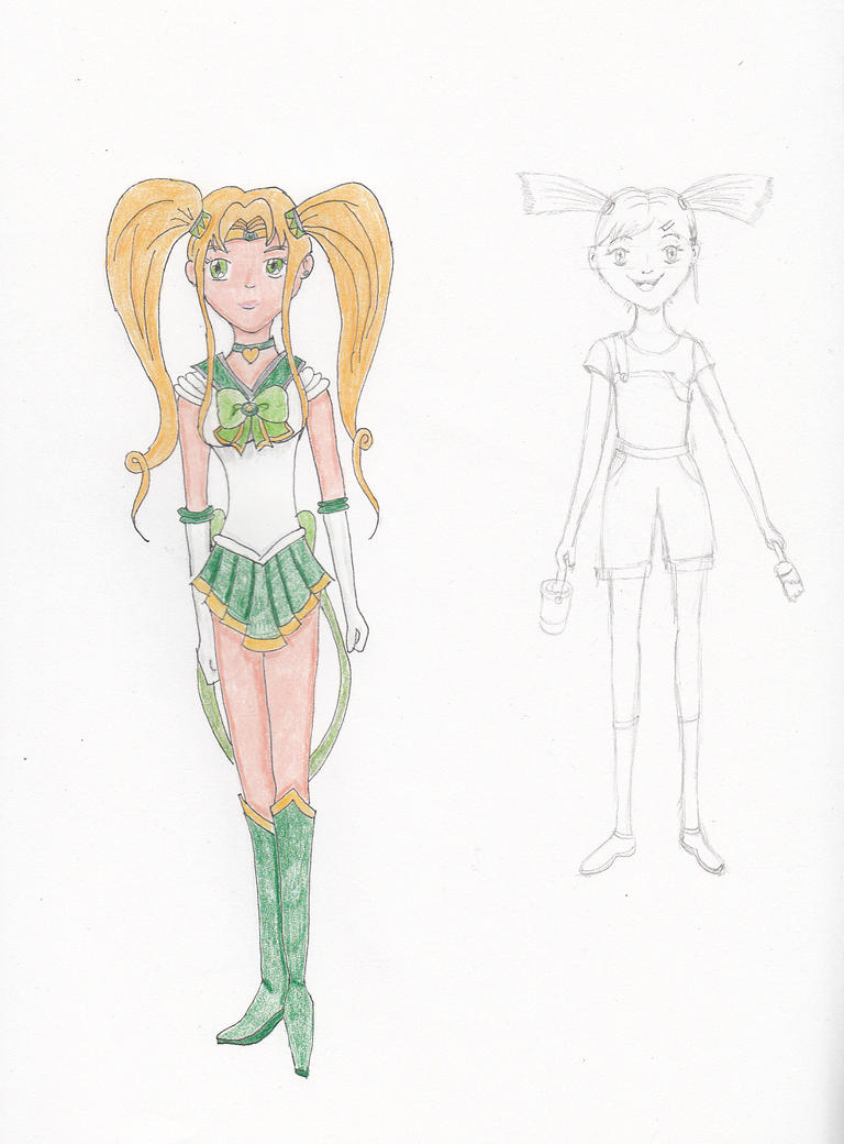 Sailor Fay Redeux and Human!Minka concept by Dragonstar78