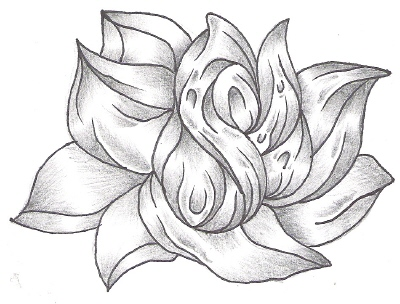 Simple Flower - flower tattoo