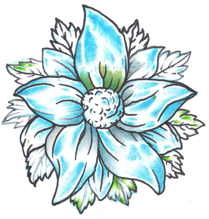 Quick Blue Inconsistency | Flower Tattoo