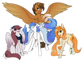 Commission for Silveer-Moon (Multiple Characters)