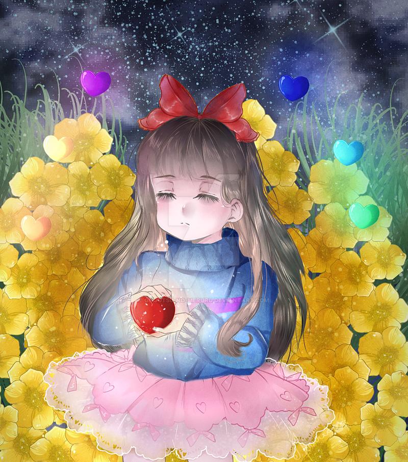 +Undertale+  MeruruFrisk by geijutsu-no-meruru