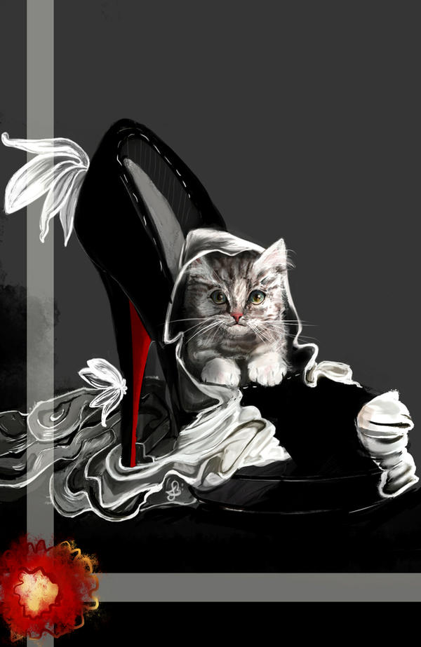 My cat in my Louboutin by LadyMelodie