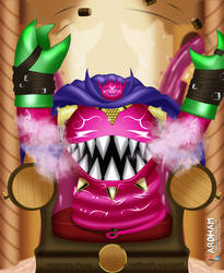 Bacchusmon: Throne of Happiness (Crapulence mode) by ArdhamArts