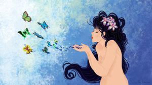 Butterflies Woman
