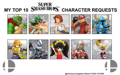 My Top 10 Smash Bros. Character Requests