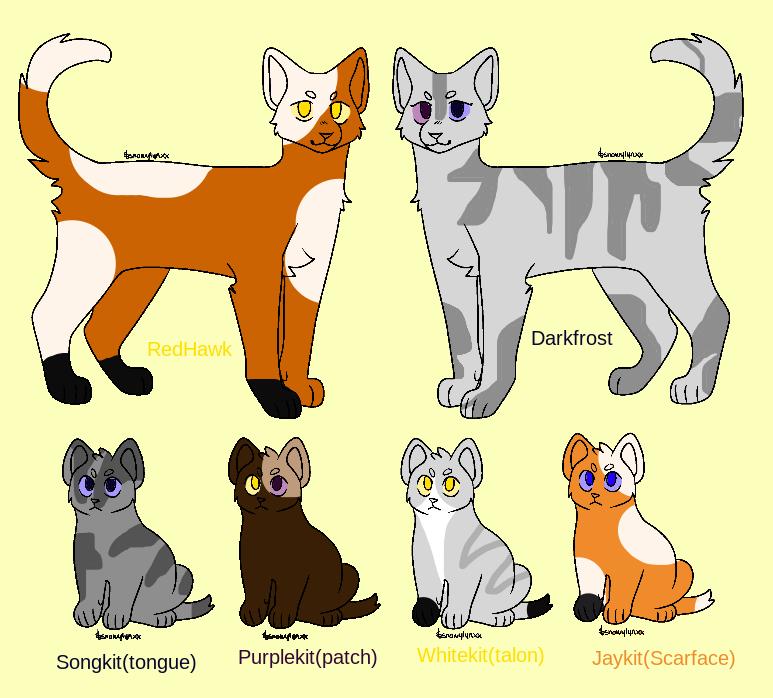 Warrior Cats- Redhawk's Fam