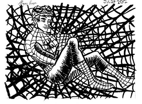 Andrew Garfield as Spider Man Inks