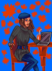 Fall Female Blogger