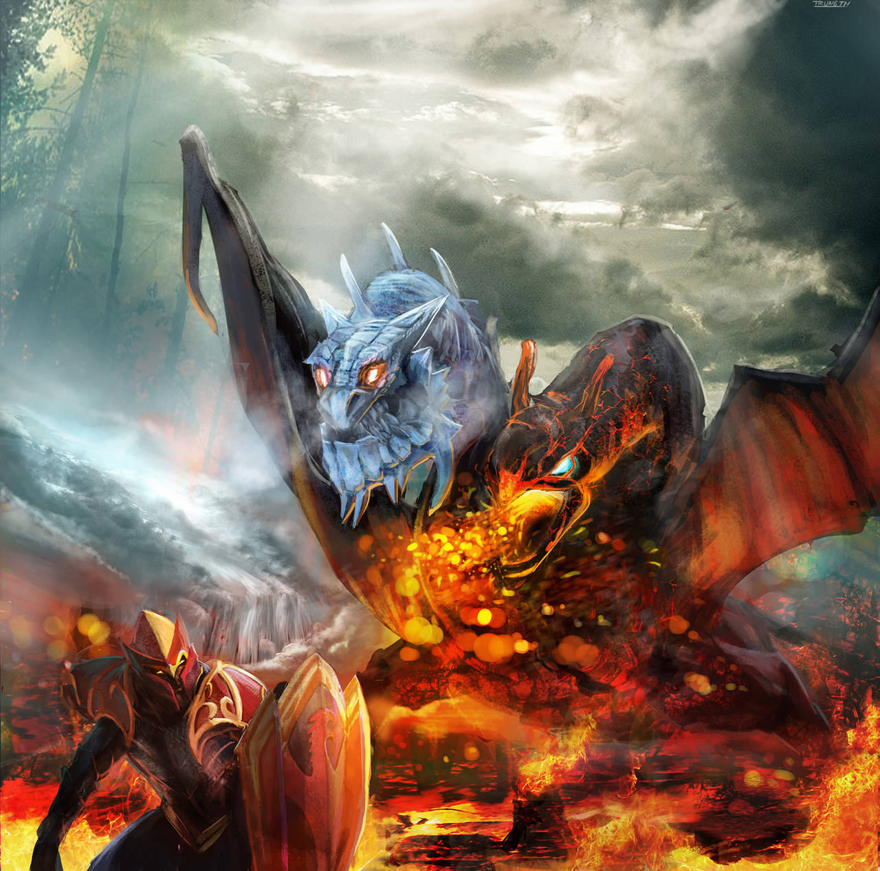 Dragon's war by TrungTH