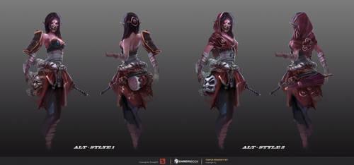 Templar Assassin Concept#2 - Lunar Oni