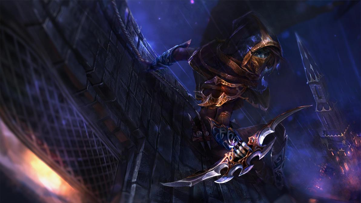 Creeping Shadow - Phantom Assassin loading screen by TrungTH