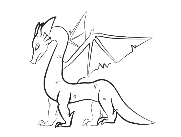 dragon outline by aesoph83594 - Dragon Outline