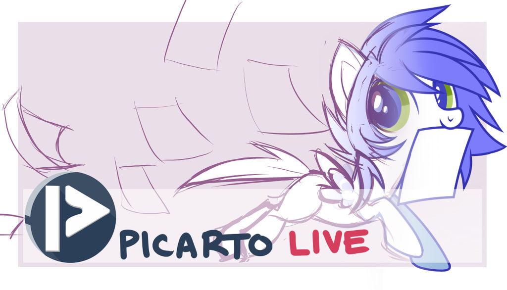 Picarto Livestream LOGO by Wicklesmack