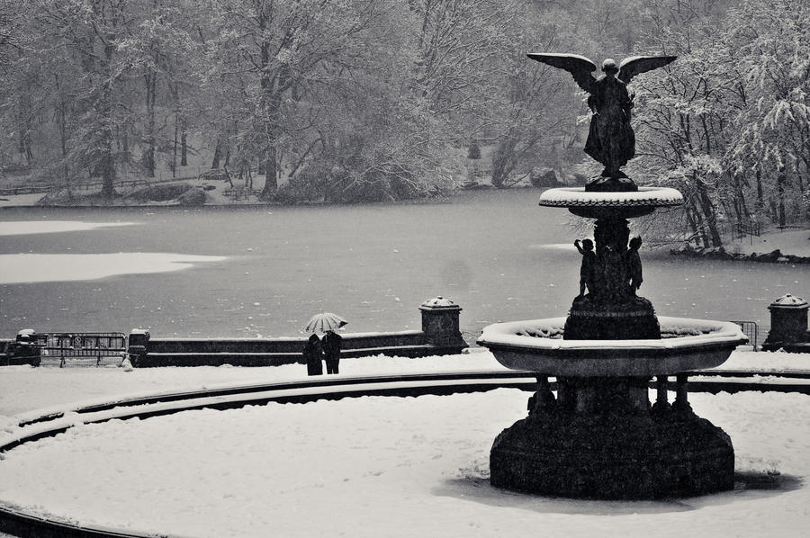 A Couple at Bethesda Fountain by mfortunato