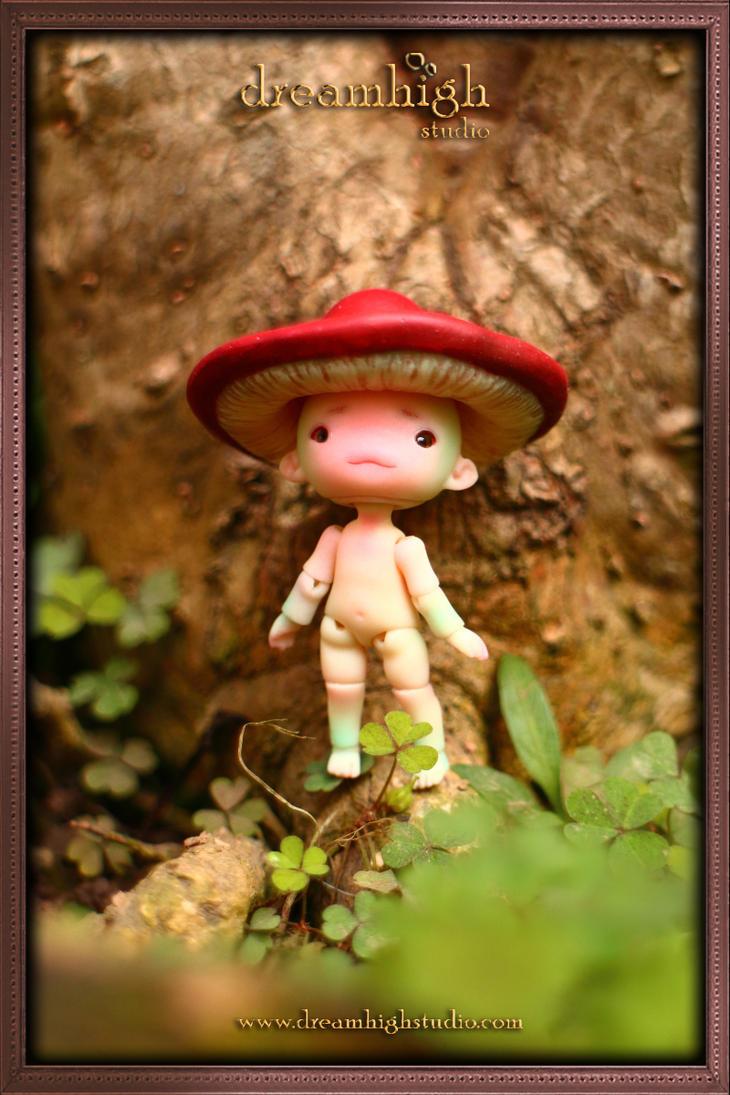 KINOKO the mushroom fairy 4.5 cm BJD by DreamHighStudio