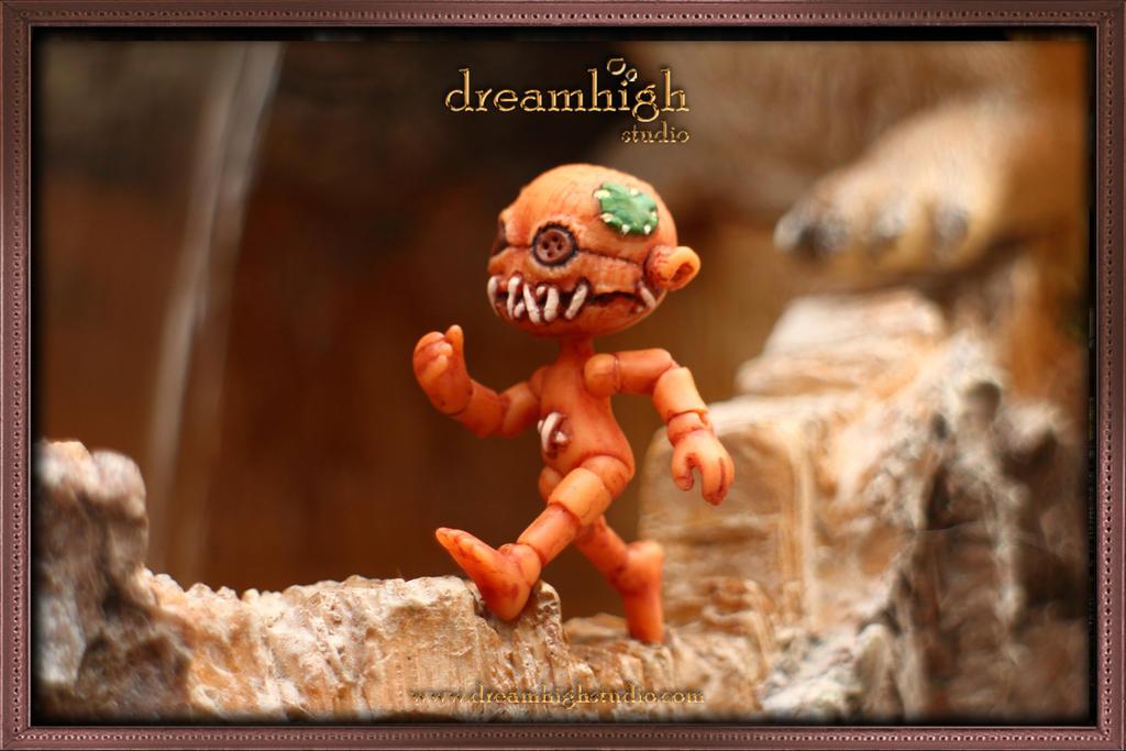 ODDY the scarecrow 5 cm MICRO BJD by DreamHighStudio