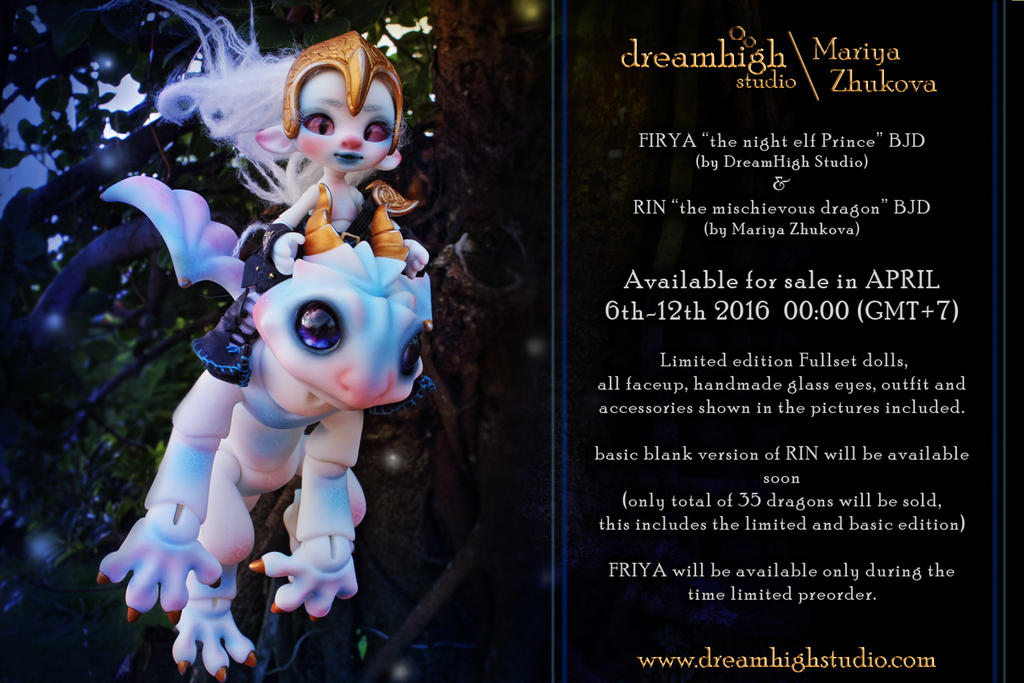 Friya  Rin BJD  by DreamHighStudio