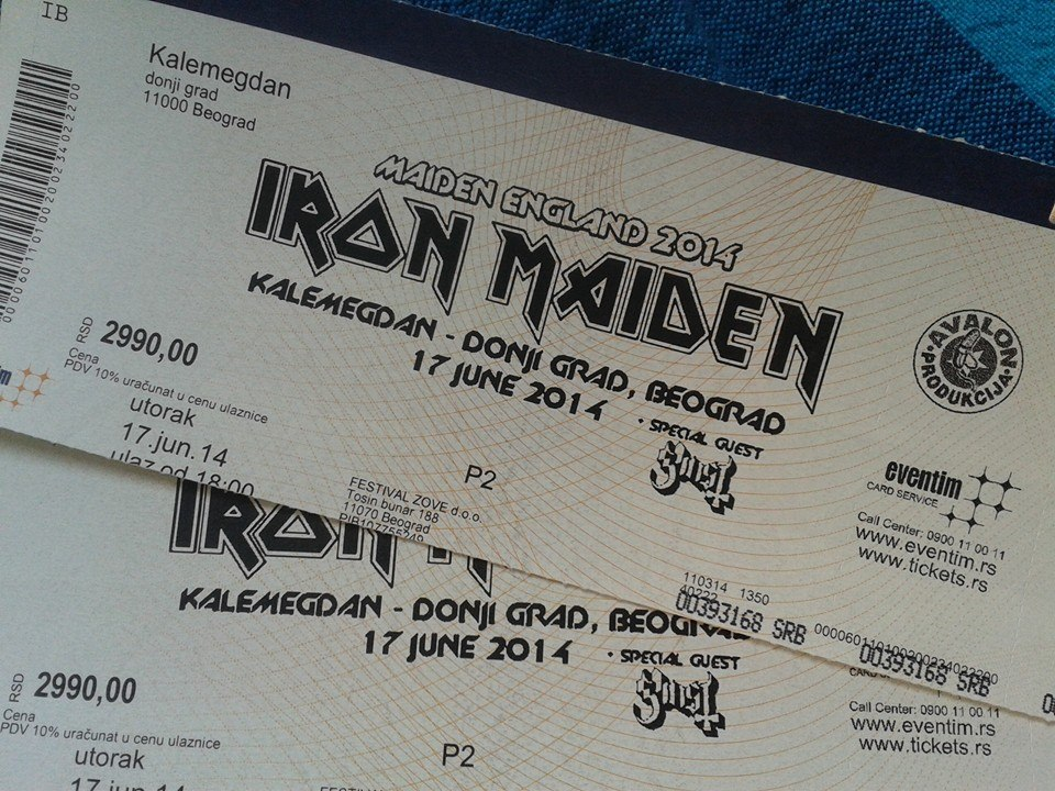 iron maiden tickets by b dawgkc. Black Bedroom Furniture Sets. Home Design Ideas