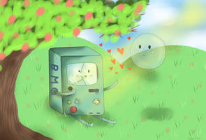 BMO and Bubble by HannahBeeArt