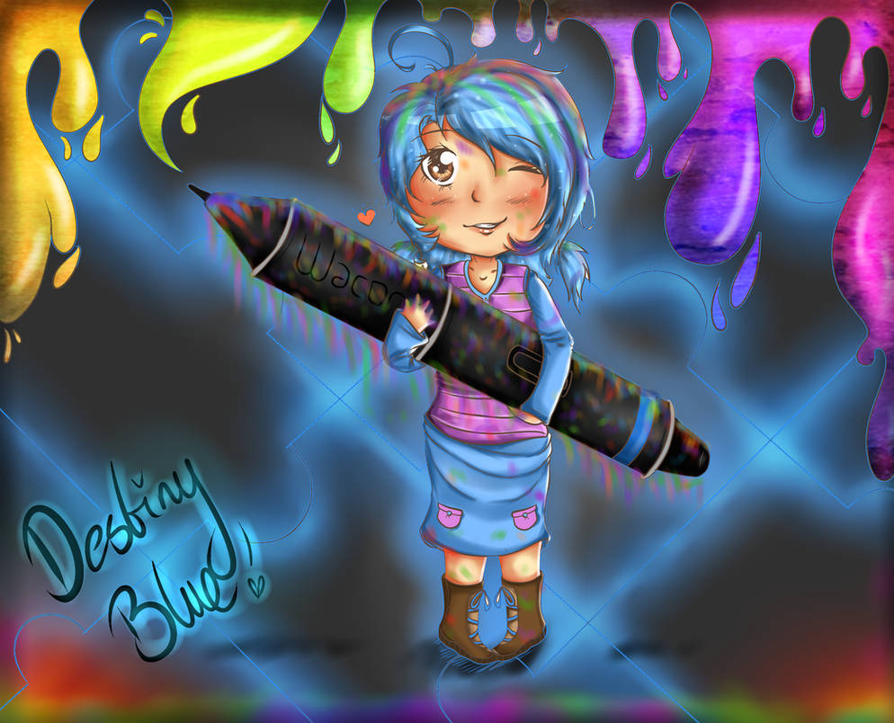Birthday::DestinyBlue by HannahBeeArt
