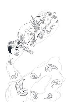 Amaterasu Rosary: Lineart