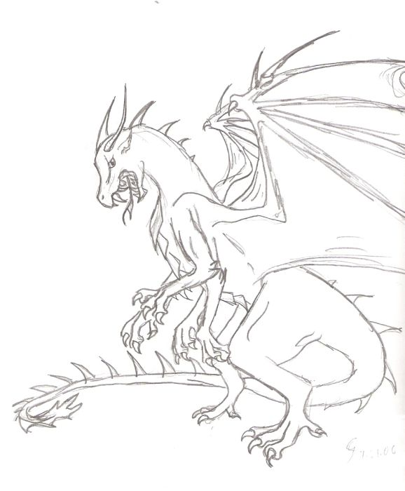 Four-armed dragon by SarurunKamui