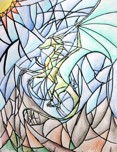 Stained Glass Dragon by SarurunKamui