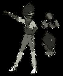 {~Steven Universe OC~} Silver Sheen Obsidian by Pepsi-Meth